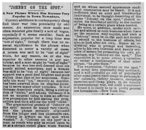 The original article was syndicated and below is the reprint found in the San Francisco Call from April 1896